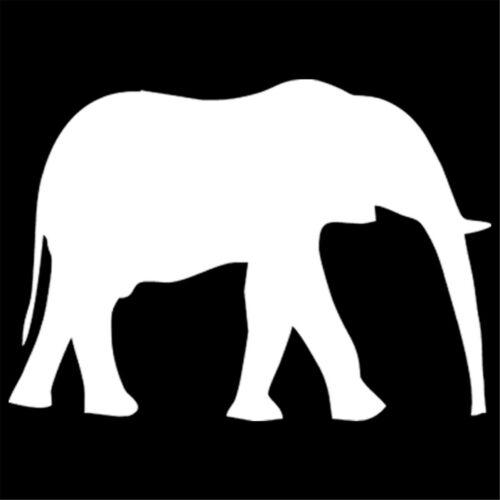 Elephant Walking Silhouette Sticker Car Window Door Truck Van Laptop Vinyl Decal