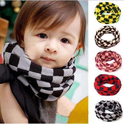 Children Autumn Winter Warm Scarf Boys Girls Collar Baby Neckerchief Scarves