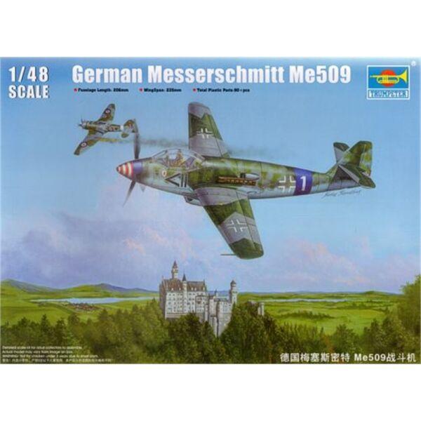 Trumpeter 02849 Me509 1:48 Kit Plastique-aereo German Me 509 148 Tr Modèle