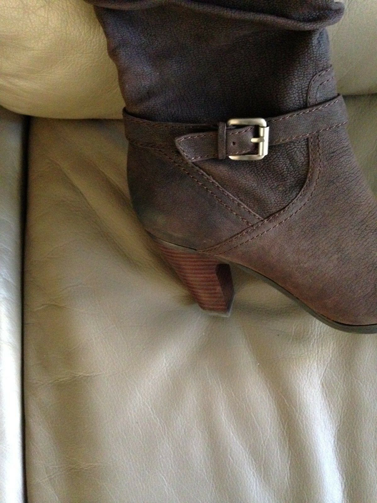 Guess Leder Braun Leder Guess Stiefel Größe 9.5 3a6d6f