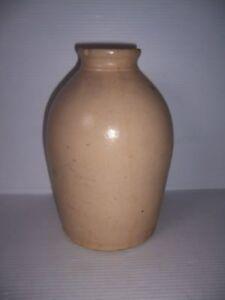 Antique Vintage Ovoid Stoneware Crock Vase Jug Jar