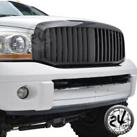 06-08 Dodge Ram 1500 Abs Black Carbon Fiber Look Vertical Packaged Grille Grill