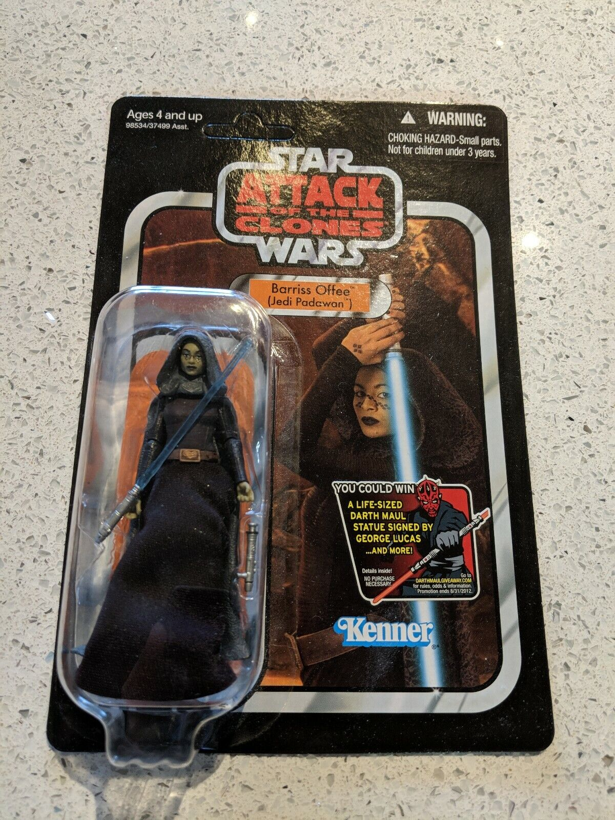 Star Wars Barriss Offee Figure The Vintage Collection VC51 w  Starcase