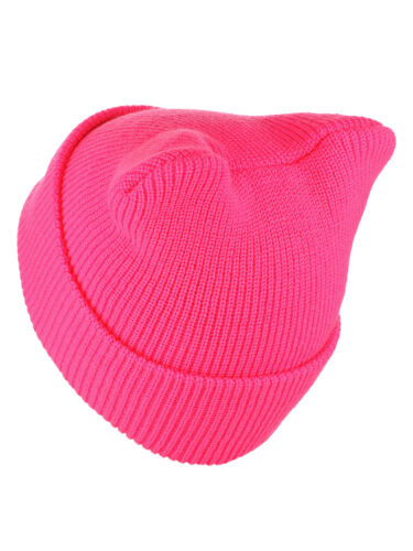 D/&Y Women/'s March Patched Quote Cuff Hot Pink Beanie Pussycat Hat NEW