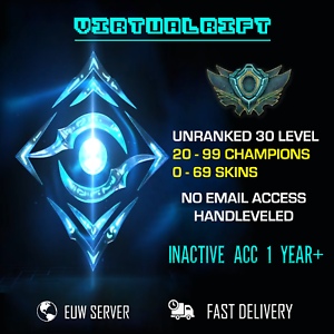 League of Legends Account LoL Unranked EUW LVL 30 ACC ...