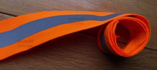 Reflective Tape 2-inch Sew-On Orange fabric trim