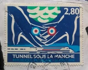 France Timbres-tunnel Sous La Manche-franco-britannique émission Commune - 2,80 Franc 1994-afficher Le Titre D'origine