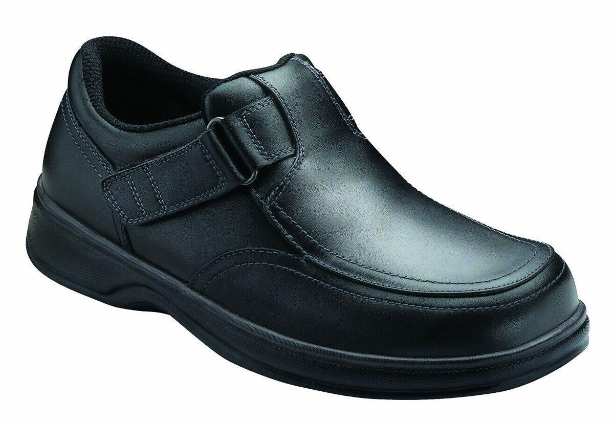 NIB ORTHOFEET Uomo LOAFERS CARNEGIE Orthopedic Diabetic Slip-On LOAFERS Uomo BLACK SZ 11.5W 707355