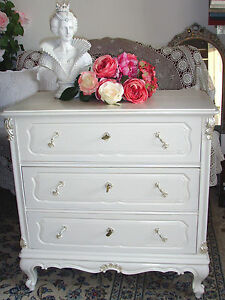 Chippendale kommode schrank unikat shabby vintage creme for Kommode chippendale
