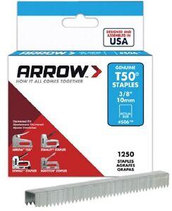 Arrow Fastener T50 10 mm (3/8 POLLICI) HEAVY DUTY STAPLES confezione da 1250  </span>