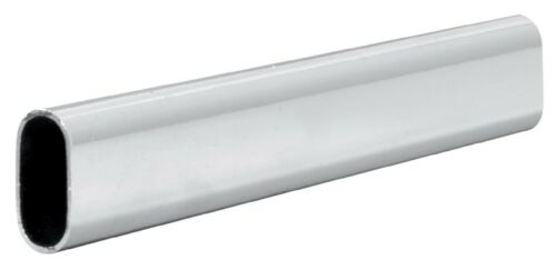 Wardrobe Rail Oval Hanging Rails with Free End Supports /& Screws
