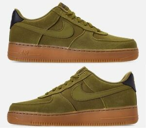 Details about NIKE AIR FORCE 1 '07 LV8 STYLE CASUAL MEN's CAMPER GREEN GUM MED BROWN NEW SZ