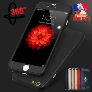 Coque 360° Housse Etui Anti Choc Pour Iphone 5 6 7 8 X Protection Verre Trempe