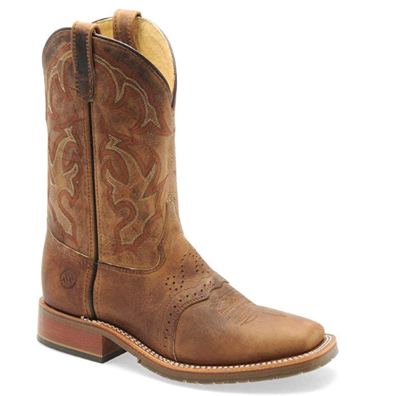 6b8d1db5a57 Double-H Men's Domestic Square Toe ICE Roper DH3560 Western Boots