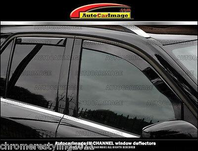 BMW X1 IN-CHANNEL RAIN GUARDS WIND DEFLECTORS 2010-2015