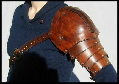 Medieval celtic//viking or barbarian Leather Pauldrons Knight Leather Shoulder