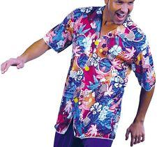 Herren Hawaii Verkleidung Schick Mit kapuze Tunika Hemd Erwachsene M/L