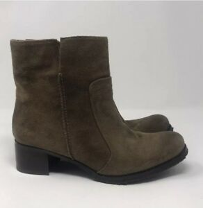 ANTHROPOLOGIE-BIVIEL-BROWN-SUEDE-BOOTIES-6-5-225-NWOT