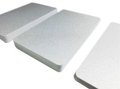 50 Plastikkarten Premium Qualität beidseitig silber