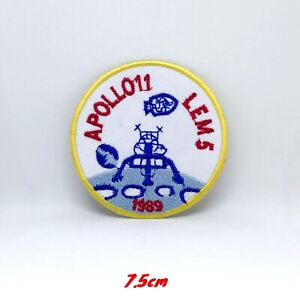 Neuf-Apollo-Lem-5-Brode-Repasser-Patch-a-Coudre-1193