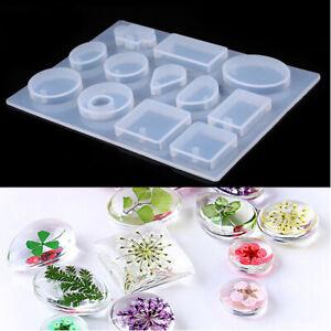 À faire soi-même Cristal Moule en silicone moule résine Craft Pour Collier Jewelry Making Pendentif