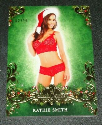 The Man Show Non-sport Trading Cards Diplomatic 2014 Benchwarmer Kathryn Smith Holiday #48 Gold Foil/15 Reno 911