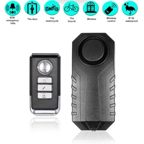 NEW Wireless 113dB Anti-Theft Vibration Triggered Bike Alarm Lock+Remote TRLY