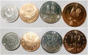 5 Pcs Coin Set Qatar 1 5 10 25 50 Dirhams 2016 Unc Mint