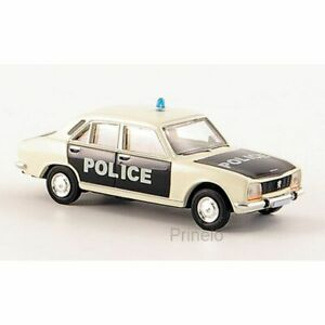 BREKINA-29108-1-87-HO-PEUGEOT-504-BERLINE-POLICE-FRANCE-VOITURE-MINIATURE-H0