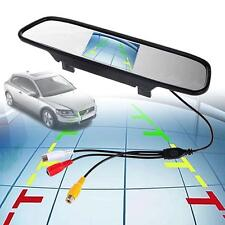 """4.3"""" LCD Car Rear View Mirror Monitor For Night Vision Reverse Backup HD Cam TL"""