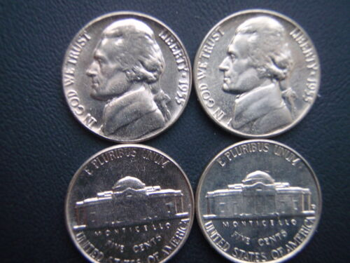 2~1955 P/&D~JEFFERSON NICKELS /> choice AU circulated