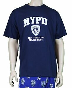 NYPD-Short-Sleeve-White-Print-T-Shirt-Navy-New-York-City-Gift-Souvenir-Police
