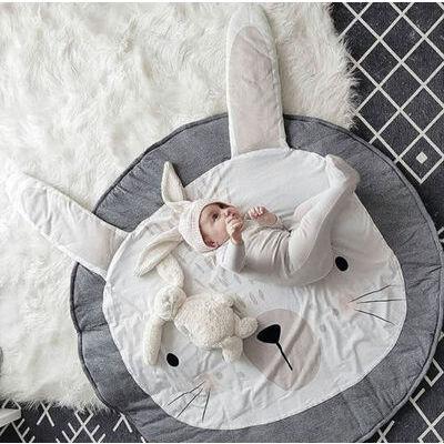 Children Kids Game Play Mat Baby Crawling Rug Carpet Cotton Blanket Playmat