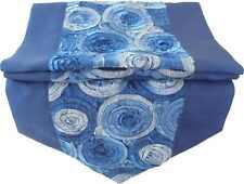 TS344 blau Tischläufer Tischdeko Tischdecke 200x30cm Thai Silk ROSEN edel
