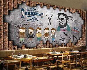 Details About Barber Shop Wallpaper Modern Interior Hairdresser Background Photo Wall Decor
