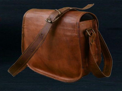 Details about  / Women Vintage Looking Brown Leather Messenger Cross Body Bag Handmade Purse