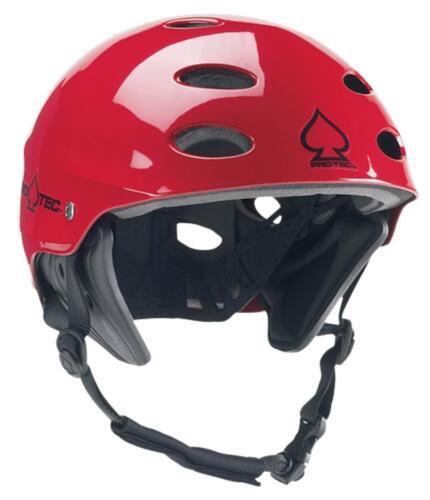 Protec Ace Wake Wassersport Helm W Ohren Glänzend Rot XS S M L XL XXL