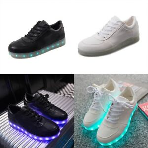Light UP LED Shoes Colorful Glow Shoe Casual PU-Leather Luminous ... b770c749b1dc