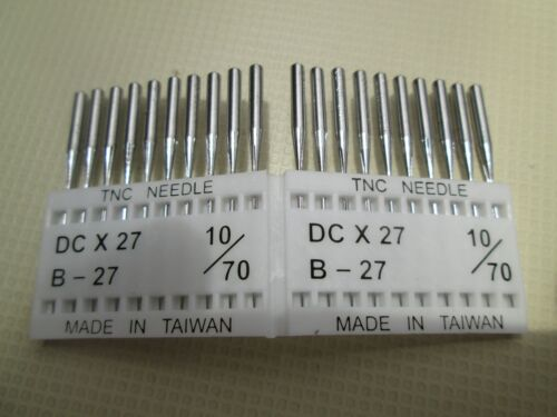 Industrial Overlock Needles B27 Size 1070 2 Packs