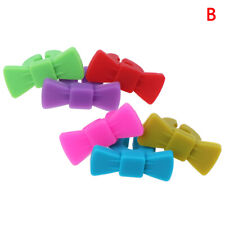 6PCS Silicone Wine Glass Marker Bowknot Design Drink Charms Label Mark