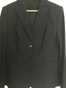 Ladies Austin Reed Wool Trouser Suit Dark Navy Ebay