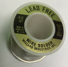 Lead Free Solder 1 Lb Spool 955 Made In Usa By Willard