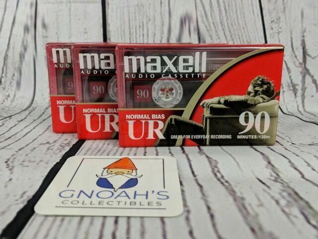 Maxell Audio Cassette UR-90 90 Minute Normal Bias UR Lot of 3
