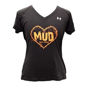 Under-Armour-Heat-Gear-Tough-Mudder-Gym-Exercise-V-Neck-T-Shirt-Top-Womens-U-T50