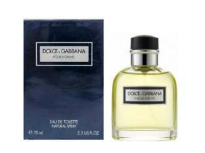 """DOLCE & GABBANA POUR HOMME """"Vintage Made In Italy"""" 2.5 Oz EDT Spray New & Sealed"""