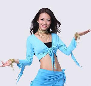 188ffceafd2f Details zu DST01# Tanzkleidung Bauchtanz Kostüm Mercerisierter Baumwoll  Tribal Top 9 Farben