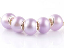 10/50 pcs DIY silver pearl big hole spacer beads fit Charm Bracelet necklace new