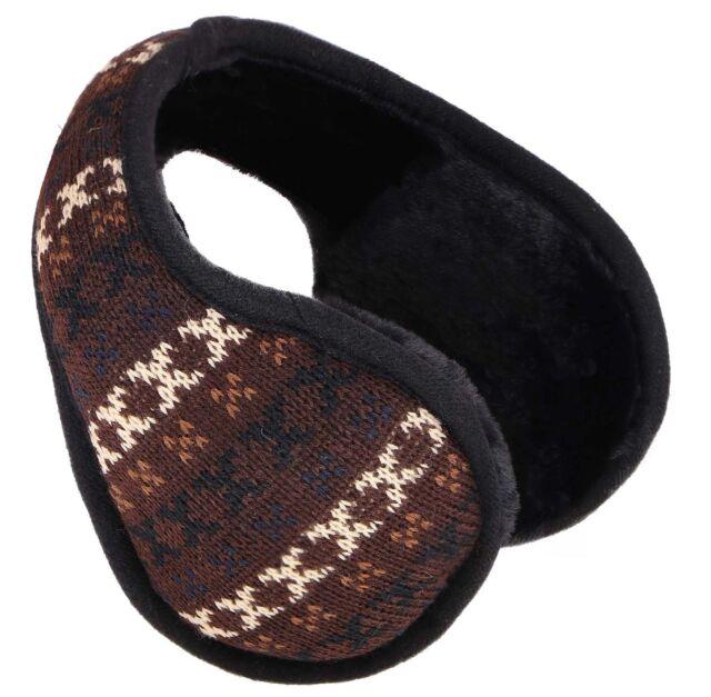 2 Pieces Winter Knit Earmuffs Detachable Warm Knitted Ear Warmers Unisex Furry Ear Muffs Winter Outdoor Ear Covers for Women Men