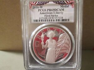2016-W-AMERICAN-LIBERTY-PROOF-SILVER-MEDAL-PCGS-PR69-DCAM-FIRST-STRIKE-7338