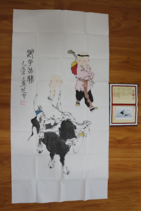 RARE-LARGE-Chinese-100-Handed-Painting-By-Fan-Zeng-EK178169